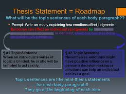 practice expository essay prompt the information in the box  thesis statement roadmap  prompt write an essay explaining how emotions affect judgments