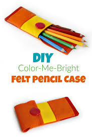 learn how to make a fun felt pencil case tutorial by apple green cottage