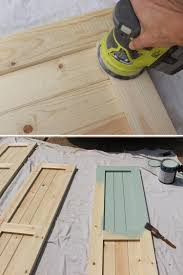 if painting the shutters you can fill large textured knots in the wood with wood filler