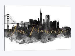 Retail $ 60.00 tunis wall medallion. San Francisco In Black White Canvas Print By Artprintsvicky Icanvas