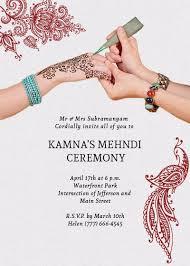 Henna Mehndi Ceremony Invitation Invites