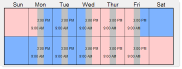Make A Time Schedule Screenshots Custody X Change