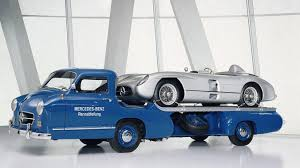 Collection 2: Mercedes-Benz high-speed <b>racing car</b> transporter.