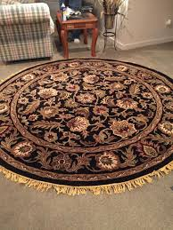 decorative 8ft x 8ft round rug