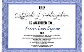 Samples Of Certificates Of Participation Sample Certificate For Participation