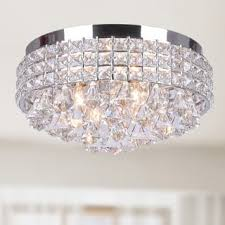 ceiling mount light fixture. Antonia Ornate Crystal Flush Mount Chandelier In Chrome Ceiling Light Fixture