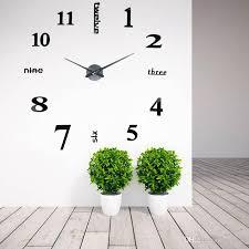 whole creative big diy 3d digital mirror sticker wall clock modern art wall clocks watch unique gifts home decoration wall clock ping
