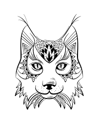 Coloriage Animaux Lynx Animals Pinterest Coloriage Animaux