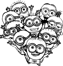 Small Picture Minion Coloring Pages coloringsuitecom
