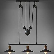 Pulley pendant light Rise Winsoon Industrial Vintage Chandeliers Pulley Light Pendant Lighting Fixture For Pool Table Farmhouse Kitchen Island Amazoncom Winsoon Industrial Vintage Chandeliers Pulley Light Pendant