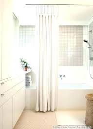 d bowed shower rod curved curtain tension mount s