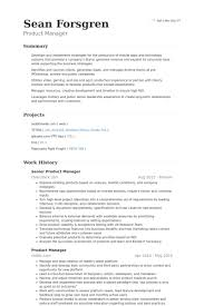Product Manager Resume Sample Resume Invoice