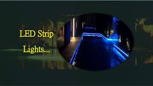 swimming pool lighting design. LED Strip Lights. Swimming Pool Lighting Design