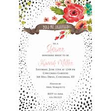 Polka Dot Invitations Polka Dot Frame Invitations