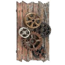 gear decor steampunk wall decor steampunk wall decor gear art handcrafted reels and gears wood