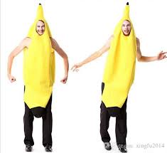 Men Cosplay Fun Adult Banana Body Suit Costume Unisex Outfit One Size Fits  Most Fancy Dress Halloween Costumes Groups Four Person Halloween Costume  From ...