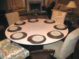 round table for four extended to rectangle fit up people top extender 72 inch round table