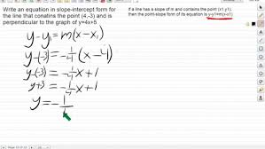 algebra 2 point slope form for perpendicular lines excel math definition maxresde point slope form form