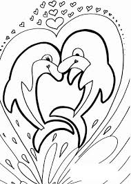 Small Picture Dolphin two dolphins in a heart Animals Coloring pages for
