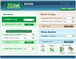 How To Create An Inventory System In Excel Ezchef Restaurant Inventory Management Menu Costing And Analysis