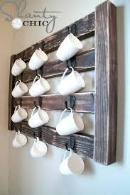 mug rack wall coffee mug wall hanger coffee cup display coffee mug rack wall mounted wooden