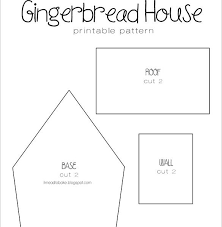 Gingerbread Templates Printable 11 Gingerbread House Templates Free