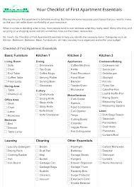 My First Apartment Checklist Apartment Checklist Apartment