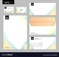 Stationery Letterhead Modern Stationery Set In Format Letterhead Vector Image