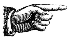 picture of hand pointing to link
