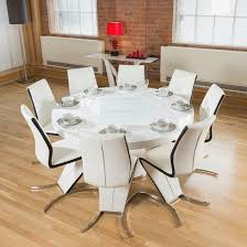 round white gloss dining table lazy susan 10 white round dining room tables for
