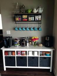 coffee bar ideas area corner shelf station metal wood with baskets 7 hooks hobby lobby