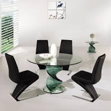 Modern Glass Kitchen Tables Modern Glass Dining Table Sets Decorating Home Ideas