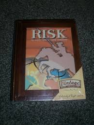 Risk Board Game Wooden Box Simple Risk Vintage Board Game Collection Factory 32hasbro Wooden Book