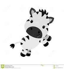 Personaggio Dei Cartoni Animati Di Vettore Di Piccola Zebra