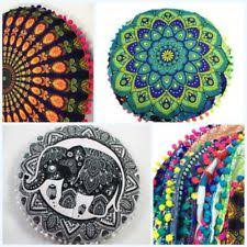 ethnic floor cushions. Beautiful Ethnic 1X Home Round Pillow Case Mandala Geometric Meditation Floor Cushion Cover  Decor In Ethnic Cushions