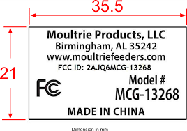 EBSIndustries ., DBA PRADOutdoor Brands Bluetooth Camera MCG-13268 FCC ID  2AJQ6MCG-13268
