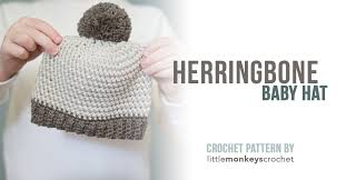 Baby Beanie Crochet Pattern Fascinating Herringbone Baby Hat Pattern Little Monkeys Crochet