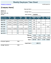 timecard with lunch breaks time sheet template for excel timesheet calculator