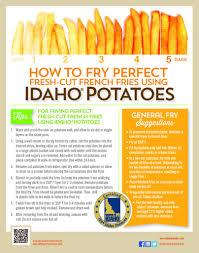 Potato Size Chart Want To Serve Perfect Fresh Cut French Fries Idaho Potato