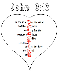 Small Picture Printable John 316 Valentine Heart Childrens Ministry Ideas