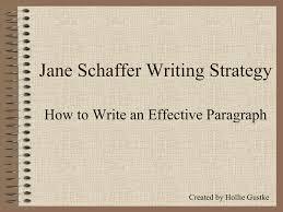 Writing Janeschaffer