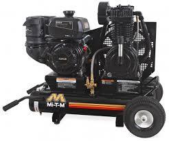 air compressors mi t m industrial air compressors 8 gallon two stage gasoline am2 pk95 08m