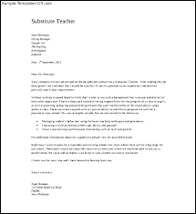 Letter To Substitute Teacher Template Teacher Letter Template Cmdone Co