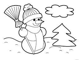 Small Picture Snowman Coloring Page Winter Coloring Coloring Pages