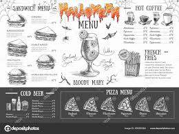 Halloween Menu Design Vintage Halloween Menu Design Restaurant Menu Stock Vector
