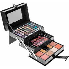 shany carry all makeup train case with pro makeup and reusable aluminum case silver walmart