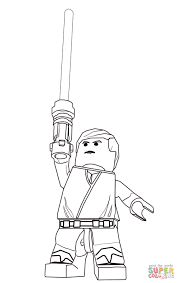 Small Picture Lego Star Wars Luke Skywalker Super Coloring LineArt Star