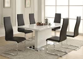 white modern dining room sets. Black And White Seven Piece Dining Set Modern Room Sets N