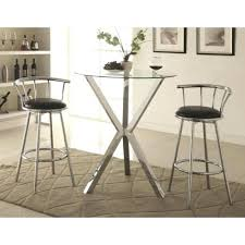 round pub table sets coaster bar units and tables 3 piece set with swivel small black