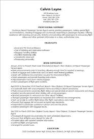 Resume Templates: Airport Passenger Service Agent